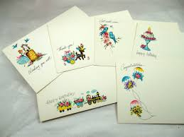 vintage current inc post a note greeting cards in by beadgarden55