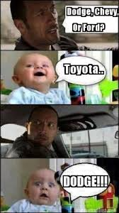 Funny Chevy Memes - meme maker dodge chevy or ford toyota dodge