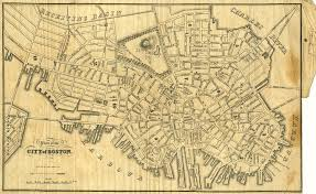 Map Of Boston Ma Fitz Henry Lane Historical Materials
