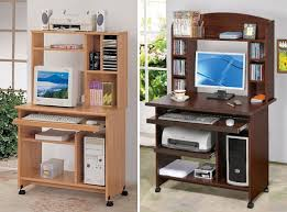 Wood Computer Desk With Hutch Foter by Natural Wood Computer Desk Foter Shelf Small With Shelves