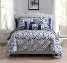 Taupe Comforter Sets Queen 10 Piece Stanley Navy Taupe Comforter Set
