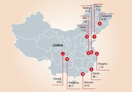 map of china and cities china s best performing cities 2015 study in china
