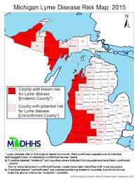 Michigan Counties Map Lyme Disease In Michigan Map Michigan Map