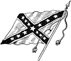 rebel flag clipart black white collection
