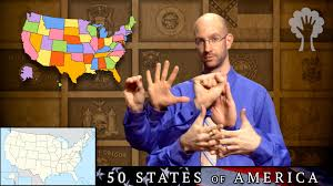 50 states of america 2nd edition asl american sign language