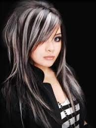 black low lights for grey platinum blonde with black lowlights black hair and platinum