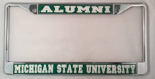 msu alumni license plate frame michigan state alumni license plate frame