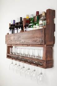 furniture u0026 organization rustic wood wine rack and wine glass