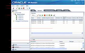 ovm console using oracle vm manager