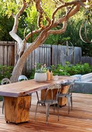 Cool Patio Tables Cool Outdoor Rustic Table Ideas Best Patio Design Gallery With