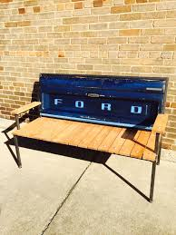 buy a hand made ford tailgate bench with welded steel frame made