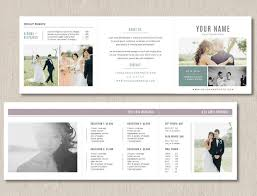 wedding photography pricing photography pricing template trifold card for photographers