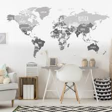 World Map Wall Sticker by World Map Wall Decal