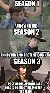 Carl Walking Dead Meme - the seasons of carl the walking dead funnies and facts