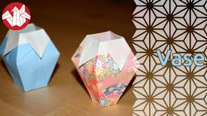 Simple Origami Vase - origami vase senbazuru