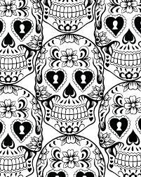 printable coloring pages sugar skulls sugar skull coloring page mirotvorec