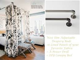 Diy Canopy Bed Diy Canopy Bed With Curtain Rods Amys Office