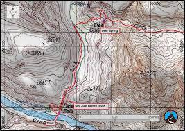 Map Grand Canyon Canyoneering Deer Creek North Rim Grand Canyon Road Trip Ryan
