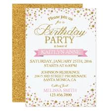 131 best glitter birthday party invitations images on pinterest