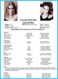 Declaration Format For Resume Acting Resume Template Word Zuffli