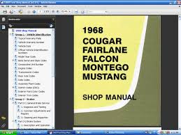 fordmanuals com 1968 cougar mustang ford shop manual cd rom