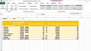 pivot tables for dummies how to format your pivot tables in excel 2013 for dummies youtube