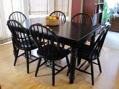 Black Dining Room Furniture This Farmhouse Style Table Is An Elegant And Beautiful Addition To