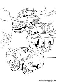 cars lightning mcqueen talking friends a4 disney coloring