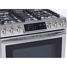 Slide In Cooktop Samsung Nx58h9500ws Slide In Gas Range With True Convection