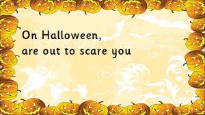 Poem Of Halloween Halloween Is Coming Youtube