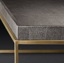 leather tray for coffee table rh modern s hudson shagreen tray square coffee table designed by