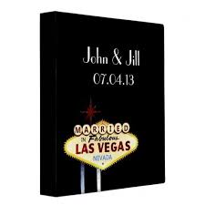 las vegas photo album personalized married in las vegas wedding album binder las vegas