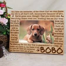 dog memorial personalized dog memorial picture frame you a dog in heaven