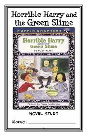 horrible harry and the green slime suzy novel study