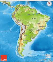 Physical Africa Map by Physical 3d Map Of South America