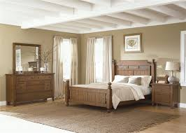 Rustic Wooden Bedroom Furniture - hearthstone poster bed 6 piece bedroom set in rustic oak finish by