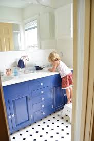 Navy Blue Bathroom by Blue Double Bathroom Vanity Transitional Bathroom Blue White