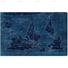 Canvas Map Of The World by Upside Down Map Of The World U2014 Hatcher And Ethan