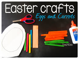 the290ss easter crafts with kids popsicle sticks eggs and carrots