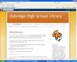 online tutorial library uxbridge high school library library research tutorial