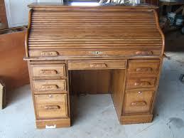 solid oak roll top desk 67 most fabulous solid wood office desk unfinished oak roll top