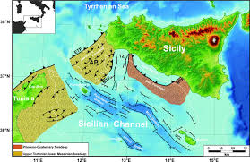 Map Of Mediterranean Sea Anatomy Of A Submerged Archipelago In The Sicilian Channel