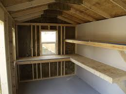 Building Wood Shelves In Shed by Stout Sheds Llc