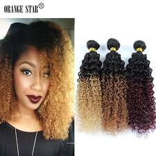 human hair extensions curly ombre hair extensions 3 bundles human hair two tone ombre