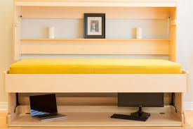 smart spaces hiddenbed convertible 2 in 1 murphy wall bed and desk