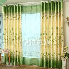 Yellow Curtains For Bedroom Print Bedroom Room Darkening Clover Cheap Green Curtains