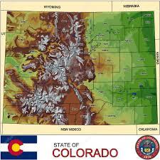 Map Colorado by Colorado Counties Emblem Map U2014 Stock Vector Jrtburr 58885757
