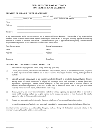 Durable Power Of Attorney For Health Care Form kansas power of attorney form free templates in pdf word excel