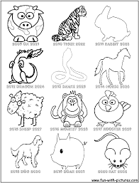 chinese zodiac coloring pages at chinese zodiac coloring pages