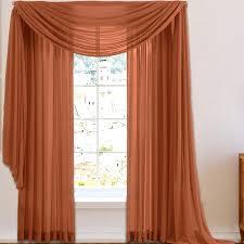 light peach sheer curtains house of voile window scarf curtain